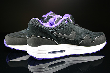 Nike WMNS Air Max 1 Essential Black Black Hyper Grape White Inside