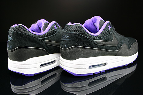 Nike WMNS Air Max 1 Essential Black Black Hyper Grape White Back view