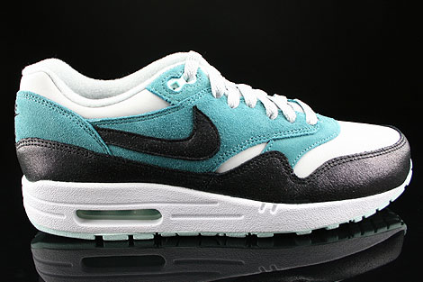 Nike WMNS Air Max 1 Essential Anthrazit Grau Hellgrau Tuerkis Mint Weiss