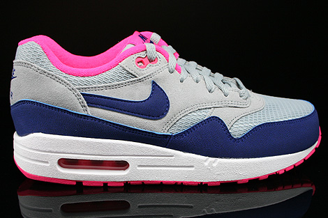 nike wmns air max 1 essential light magnet grey deep royal. Black Bedroom Furniture Sets. Home Design Ideas