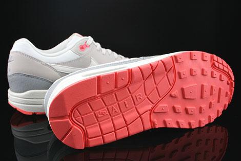 Nike WMNS Air Max 1 Essential Weiss Grau Dunkelgrau Rose Laufsohle