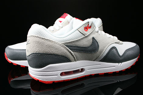 Nike WMNS Air Max 1 Essential White Cool Grey Base Grey Light Crimson Inside