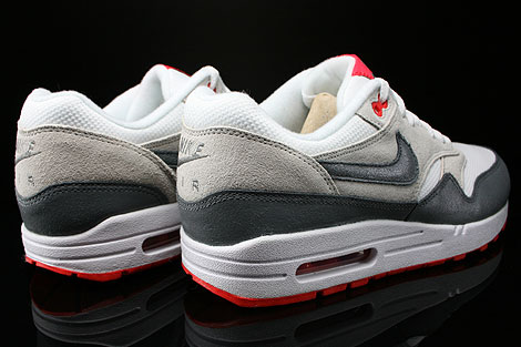 Nike WMNS Air Max 1 Essential White Cool Grey Base Grey Light Crimson Back view