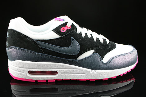 Nike WMNS Air Max 1 Essential White Dark Armory Blue Pink Foil Black