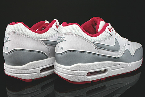 Nike WMNS Air Max 1 Essential White Light Magnet Grey Fuchsia White Back view