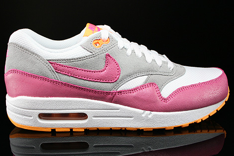 Nike WMNS Air Max 1 Essential Weiss Pink Grau Orange Rechts