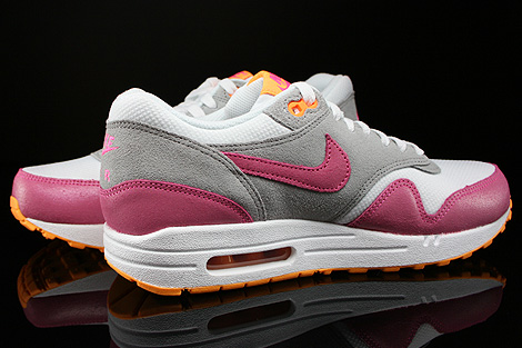 Nike WMNS Air Max 1 Essential Weiss Pink Grau Orange Innenseite