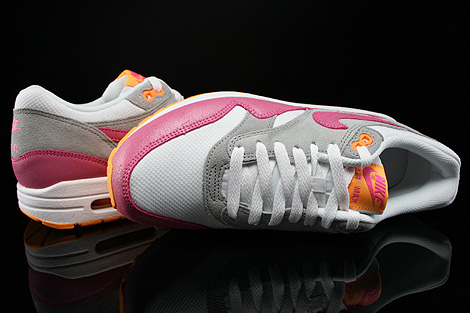 Nike WMNS Air Max 1 Essential Weiss Pink Grau Orange Oberschuh