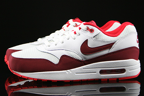 Nike WMNS Air Max 1 Essential White Team Red Action Red Profile