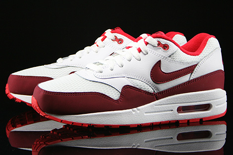 Nike WMNS Air Max 1 Essential White Team Red Action Red Sidedetails