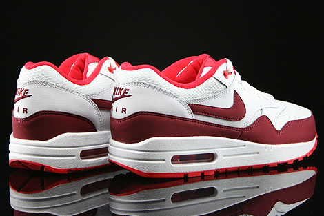 Nike WMNS Air Max 1 Essential White Team Red Action Red Back view