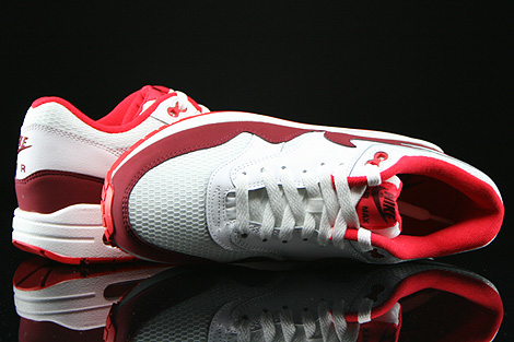 Nike WMNS Air Max 1 Essential White Team Red Action Red Over view
