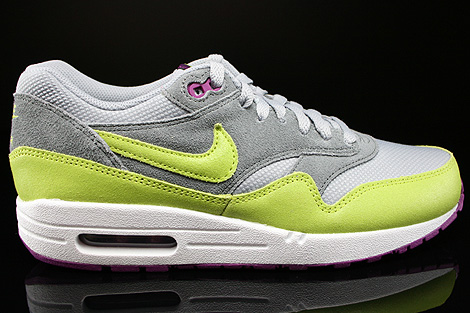 Nike WMNS Air Max 1 Essential Wolf Grey Venum Green Cool Grey Bright Geranium