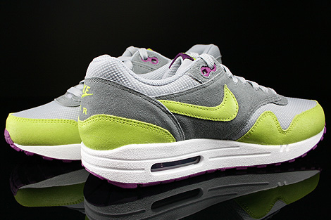 Nike WMNS Air Max 1 Essential Wolf Grey Venum Green Cool Grey Bright Geranium Inside