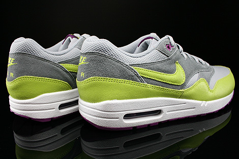 Nike WMNS Air Max 1 Essential Wolf Grey Venum Green Cool Grey Bright Geranium Back view