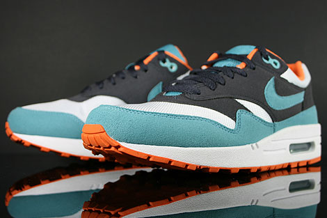 Nike WMNS Air Max 1 Gridiron Mineral Blue White Inside