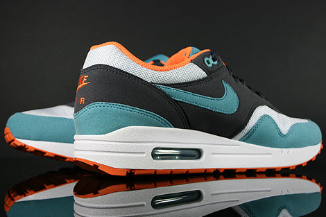 Nike WMNS Air Max 1 Gridiron Mineral Blue White Back view