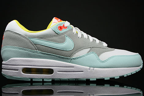 Nike WMNS Air Max 1 Lichtblau Weiss Grau Orange
