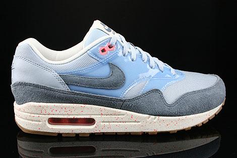 Nike WMNS Air Max 1 Stahlblau Blau Anthrazit Pink Braun