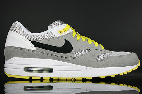 Nike WMNS Air Max 1 Medium Grey Black White Yellow