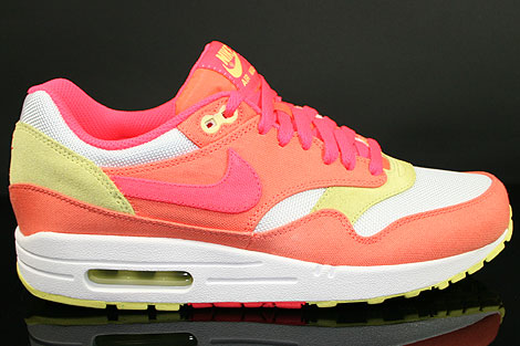 superior quality super specials nice shoes Nike WMNS Air Max 1 Melon Crush Hot Punch White Yellow ...