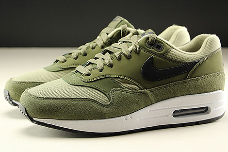low priced 4d56f 4317a ... Nike WMNS Air Max 1 Olive Canvas Black Neutral Olive White Profile ...