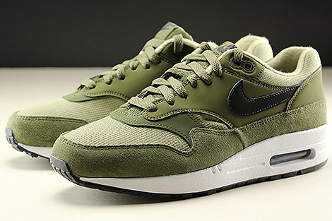 Nike WMNS Air Max 1 Olive Canvas Black Neutral Olive White Seitendetail