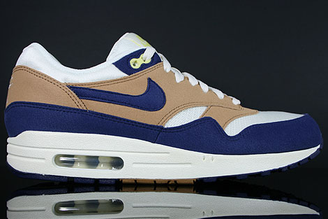 wholesale dealer cb4c6 36e7e Nike WMNS Air Max 1 Shale Lylac Blue Sail Yellow