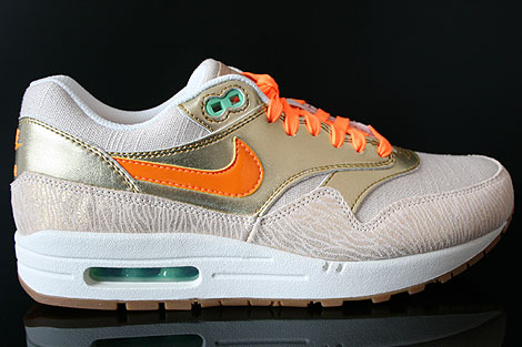 Nike WMNS Air Max 1 Premium Beige Gold Orange Weiss
