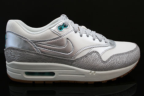 Nike WMNS Air Max 1 Premium Weiss Silber Grau Tuerkis