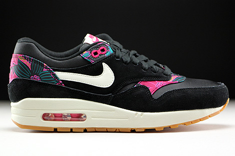 Nike WMNS Air Max 1 Print Black Sail Pink Force Right