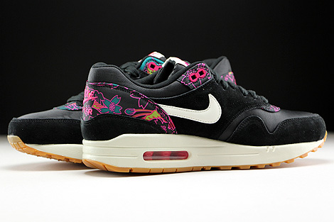 Nike WMNS Air Max 1 Print Black Sail Pink Force Inside