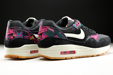 Nike WMNS Air Max 1 Print Black Sail Pink Force Back view