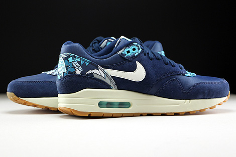 Nike WMNS Air Max 1 Print Midnight Navy Sail Tide Pool Blue Inside