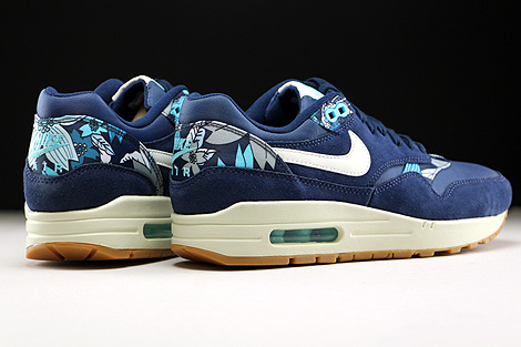 Nike WMNS Air Max 1 Print Midnight Navy Sail Tide Pool Blue Back view