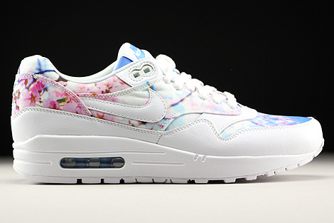 ead64f592b2d6 Nike WMNS Air Max 1 Print White White University Blue 528898-102 ...