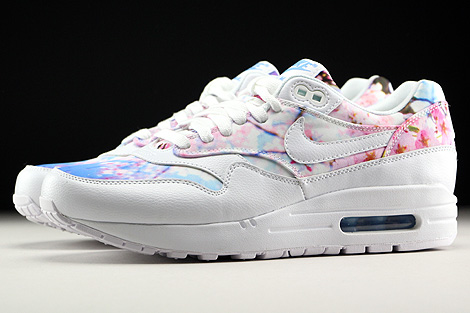Nike WMNS Air Max 1 Print White White University Blue Profile
