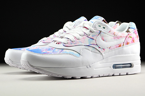 Nike WMNS Air Max 1 Print White White University Blue Sidedetails