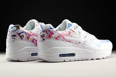 Nike WMNS Air Max 1 Print White White University Blue Back view