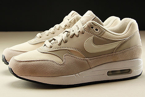 Nike WMNS Air Max 1 String Sail Light Cream Black Seitenansicht