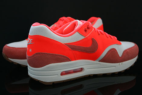 Nike WMNS Air Max 1 Vintage Sail Bright Mango Total Crimson Inside