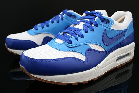 Nike WMNS Air Max 1 Vintage Dunkelblau Blau Weiss Braun Seitendetail