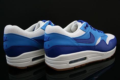Nike WMNS Air Max 1 Vintage Dunkelblau Blau Weiss Braun Rueckansicht
