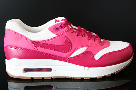 Nike WMNS Air Max 1 Vintage Sail Sport Fuchsia Pink Force Gum Right