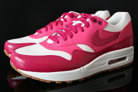 Nike WMNS Air Max 1 Vintage Fuchsia Pink Weiss Braun Seitenansicht