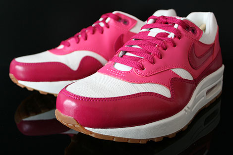 Nike WMNS Air Max 1 Vintage Fuchsia Pink Weiss Braun Seitendetail
