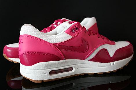 Nike WMNS Air Max 1 Vintage Fuchsia Pink Weiss Braun Innenseite