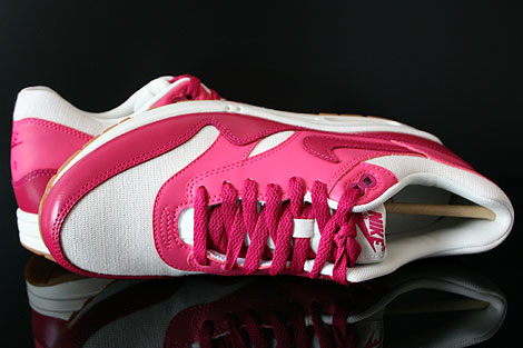 Nike WMNS Air Max 1 Vintage Sail Sport Fuchsia Pink Force Gum Over view