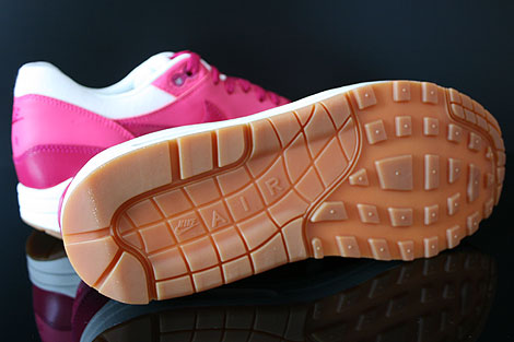 Nike WMNS Air Max 1 Vintage Fuchsia Pink Weiss Braun Laufsohle