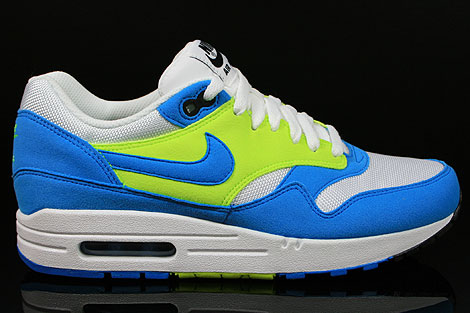 Nike WMNS Air Max 1 Weiss Hellblau Neongelb